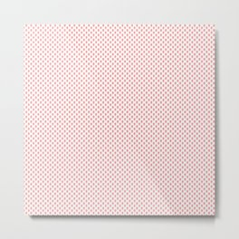Strawberries N Cream Popsicle Pattern Metal Print