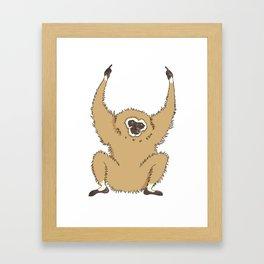 Two Fucks Gibbon Framed Art Print