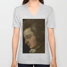 Wolfgang Amadeus Mozart (1756 -1791) by Joseph Lange Unisex V-Neck