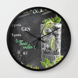 Cocktail bar drink Wall Clock