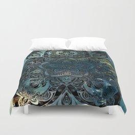 Flower mandala -night Duvet Cover