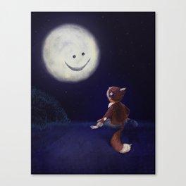 Moon buddies Canvas Print