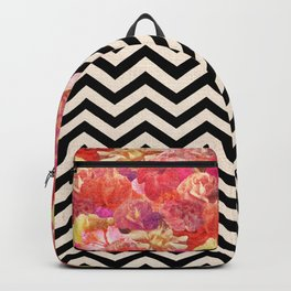 Chevron Flora Backpack