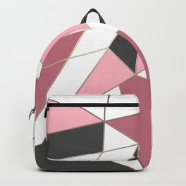 Abstraction . 4 geometric pattern Backpack