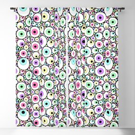 Candy Pastel Eyeball Pattern Blackout Curtain