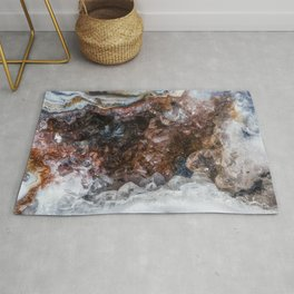 Tiny geode crystal cave Rug