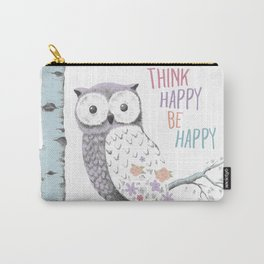 Think Happy Owl Carry-All Pouch
