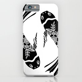 Koi Fish Black and White Palette iPhone Case