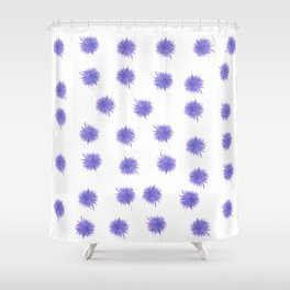 Purple Swirl Shower Curtain
