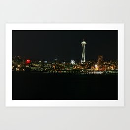 The Space Needle (At Night) Art Print