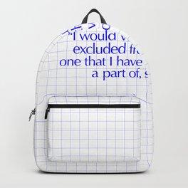 I would Backpack