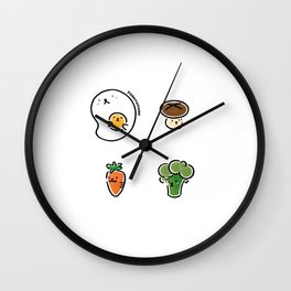 Brunch time Wall Clock