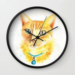Pony the cat Wall Clock