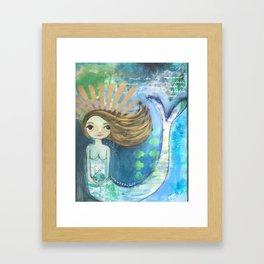 mermaid queen Framed Art Print