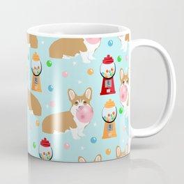 Corgi bubblegum cute pet portrait custom dog breed art pattern by pet friendly Coffee Mug
