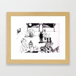 Collaboration Drawing. Framed Art Print