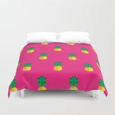 Fruit: Pineapple Duvet Cover