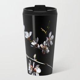 Sakura flowers on black 02 Travel Mug