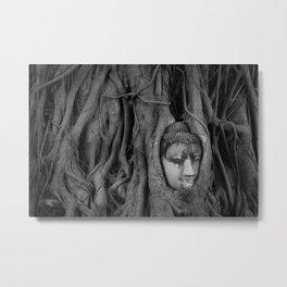 Head at Wat Mahathat Metal Print