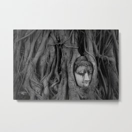 Head at Wat Mahathat Metal Print