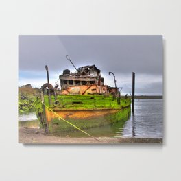 Mary D. Humes at the port of Gold Beach Metal Print