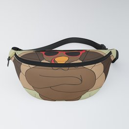 Cool Turkey with sunglasses Happy Thanksgiving Fanny Pack