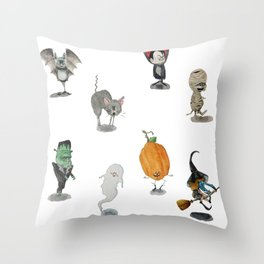 The Spooky Bunch Throw Pillow