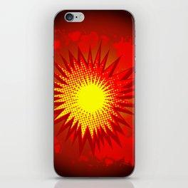 Red Cartoon Explosion iPhone Skin