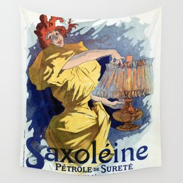 Kerosene oil  by Jules Cheret Wall Tapestry