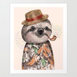 Mr.Sloth Art Print