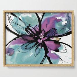 Ecstasy Bloom No.17o by Kathy Morton Stanion Serving Tray