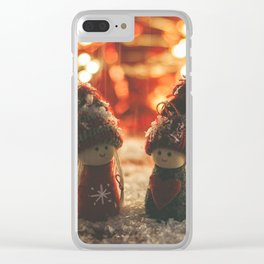 156 - Christmas memories Clear iPhone Case