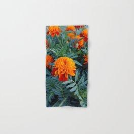 Orange flower of a marigold Hand & Bath Towel