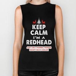 I Can't Keep Calm I'm A Redhead Biker Tank