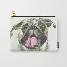 PUG / Watercolor Pug / Hand drawn illustration / watercolor dog art Carry-All Pouch
