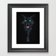 Black Cat Magic Framed Art Print