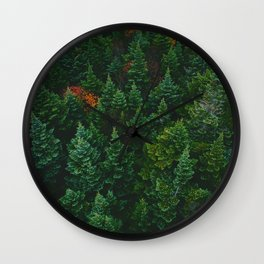 The Lively Forest (Color) Wall Clock
