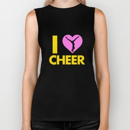 Love Cheer Cheerleading Apparel Biker Tank