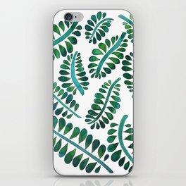 Watercolor leaves painting iPhone Skin