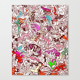 Kamasutra LOVE - Candy Cane Red Canvas Print