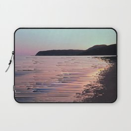Glitched Sunset on the Ocean Laptop Sleeve
