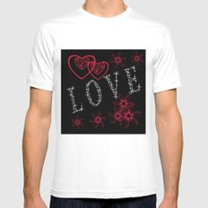 Love. Valentine's day. Mens Fitted Tee White MEDIUM