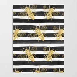 Golden bee noir Poster