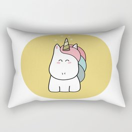 Cute Kawaii Unicorn Rectangular Pillow