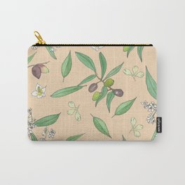Olive Grove (Peach) Carry-All Pouch