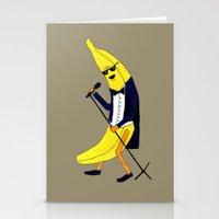 banana Stationery Cards featuring Banana by Anna Shell