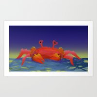 crab Art Prints featuring Crab by Katie Micks