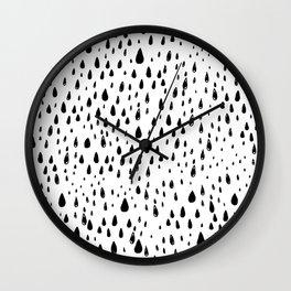 Polka rain drops Wall Clock