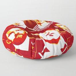 Russia football poster Floor Pillow