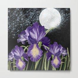 Digital drrawing irish and moon on the black background   Metal Print